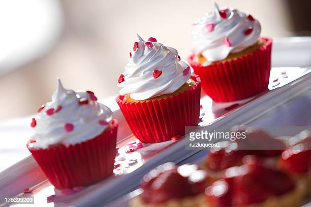 Sweet delicate cupcakes