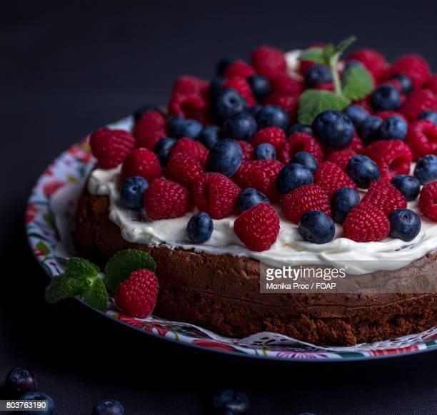Sweet dessert on table
