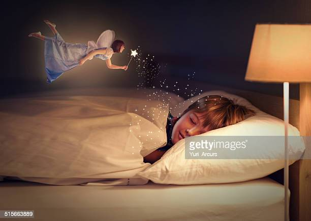 sweet dreams, little one! - fairy stock photos and pictures