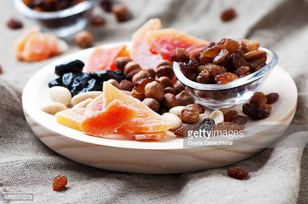 Sweet dried fruits and nuts