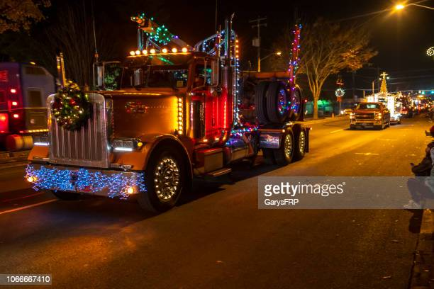 sweet home capitol christmas tree celebration lighted parade log truck - patriotic christmas stock pictures, royalty-free photos & images