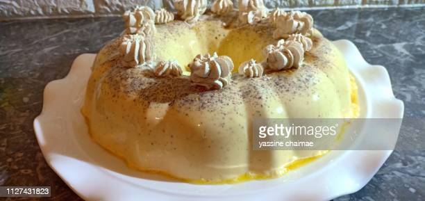 sweet homemade flan dessert with caramel
