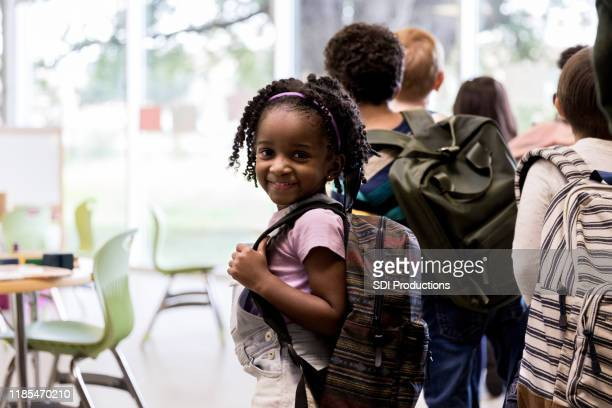 sweet kindergarten student - state school stock pictures, royalty-free photos & images