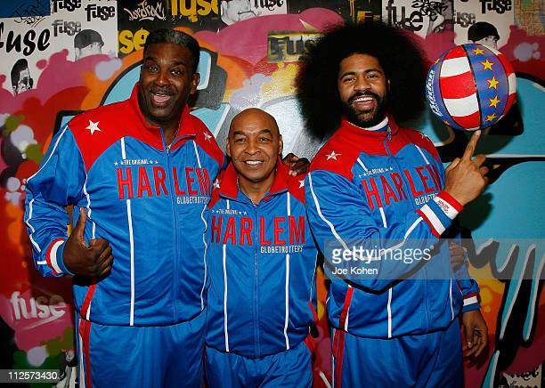 'Sweet' Lou Curly and wild Kat of The Harlem Globetrotters Visit fuse's 'The Sauce' February 13 2008 in New York City