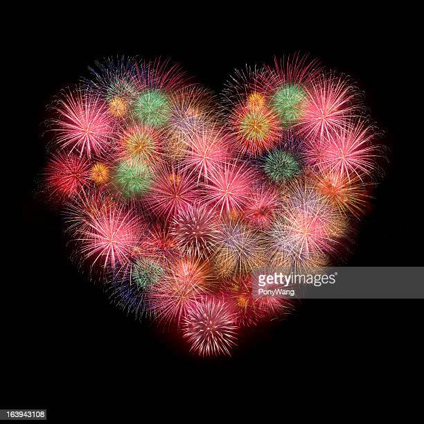 Sweet Love heart by Colorful fireworks