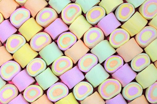 Sweet marshmallows in a pattern - gettyimageskorea