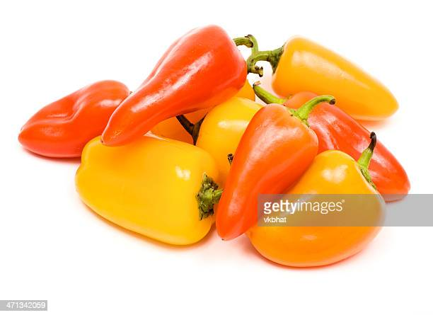 sweet mini peppers - bell pepper stock pictures, royalty-free photos & images