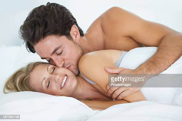 sweet morning kiss - good morning kiss images stock photos and pictures