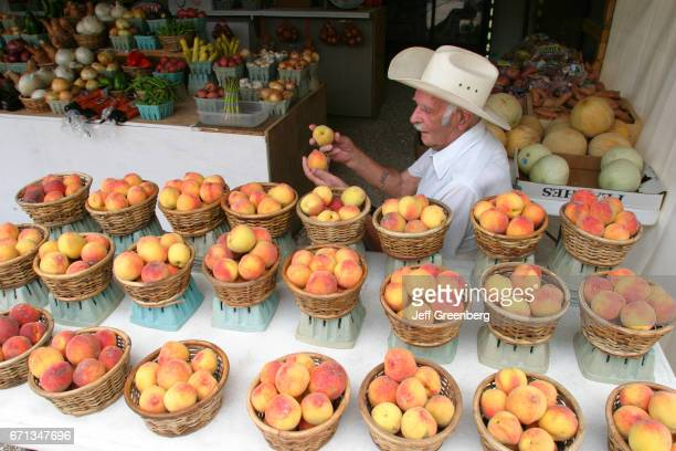 Sweet peaches for sale at a Farmers Market in Abita Springs