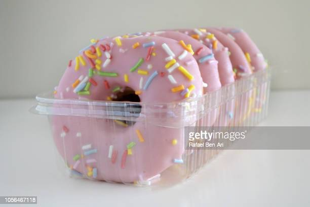 Sweet Pink Doughnuts Confection