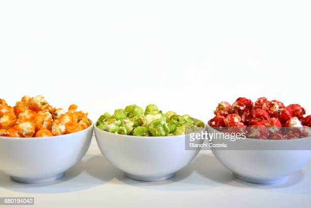 Sweet popcorn in colors