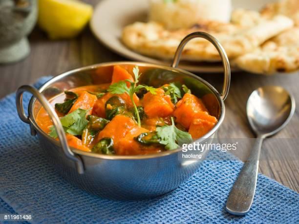 sweet potato and spinach tikka masala