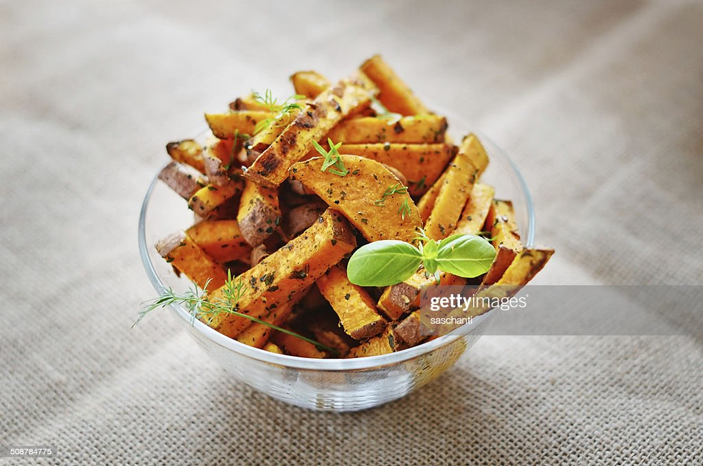Sweet potato baked : Stock Photo