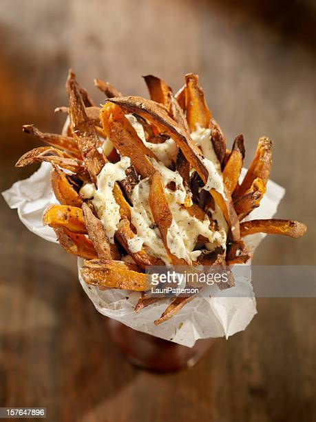 Sweet Potato French Fries with Garlic Herb Mayonnaise