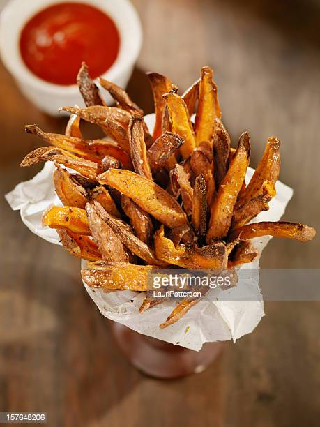 Sweet Potato French Fries with Ketchup