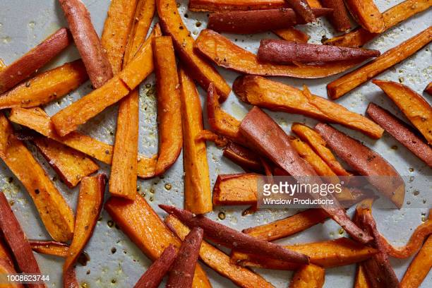 sweet potato fries - yam stock pictures, royalty-free photos & images