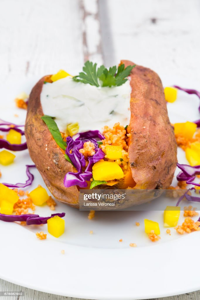 Sweet Potato Kumpir : Stock-Foto