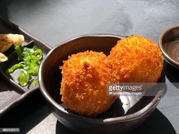 sweet potatoes croquettes - croquette stock photos and pictures