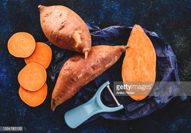 sweet potatoes - sweet potato stock pictures, royalty-free photos & images