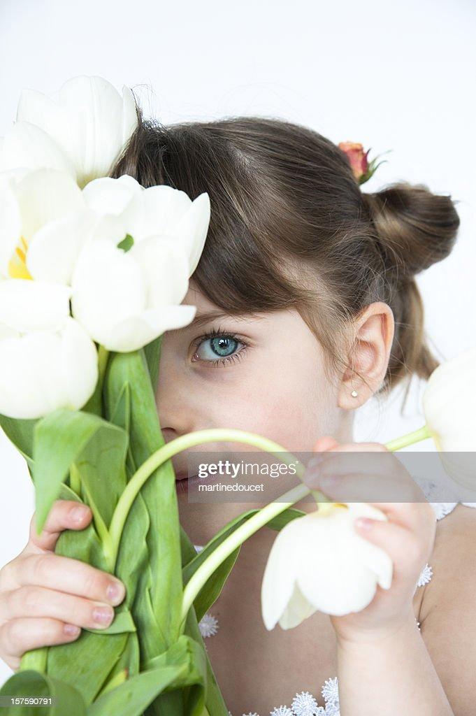 Sweet white tulips : Stock Photo
