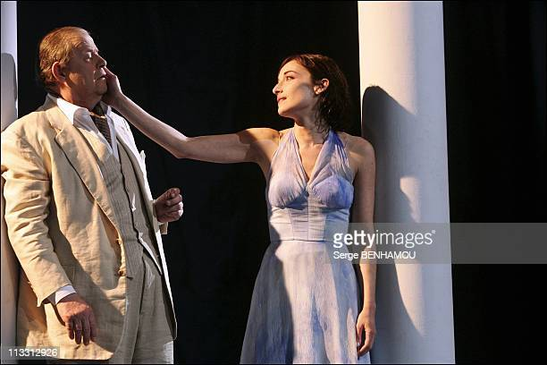 SweetBirdOfYouthPhotocall On February 3Rd, 2005 In Paris, France - Bernard Verley And Delphine Serina.