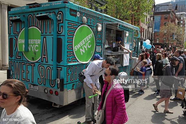 Sweetery NYC food truck on Greenwich Street in TriBeCa NYC