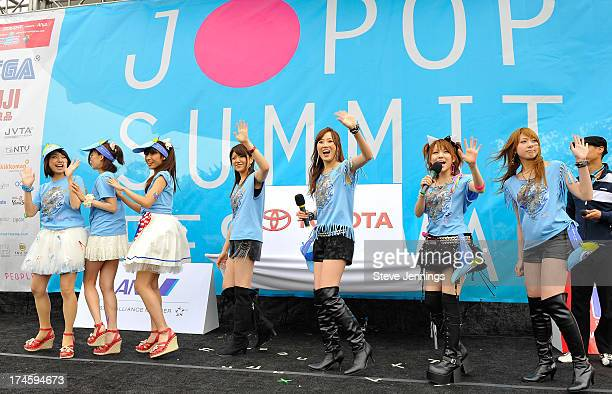 Sweety and LoVendor perform xxx during day one of the JPop Summit Festival at Japantown on July 27 2013 in San Francisco California