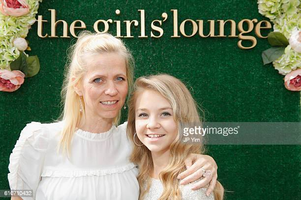 Sweety High cofounder Veronica Zelle and singer Tegan Marie pose for a portrait at The Girls' Lounge giving visibility to women at Advertising Week...