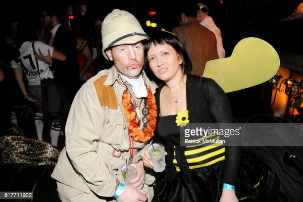 Swerve Wolf and Tari Sirlin attend THE SMILE and KANON ORGANIC VODKA Halloween 2010 at The Jane Hotel on October 30 2010 in New York City