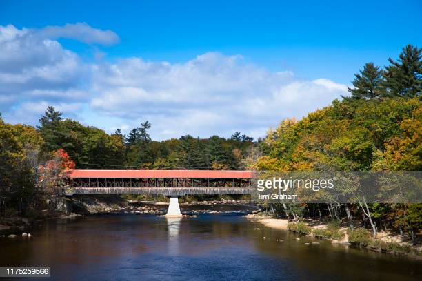 Swift River Bridge built 19th Century a covered bridge at Conway New Hampshire USA