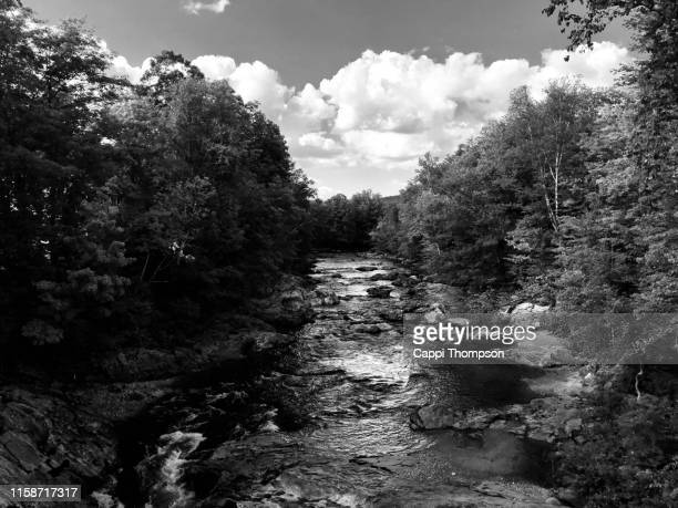 swift river near rumford, maine usa - swift river stock photos and pictures