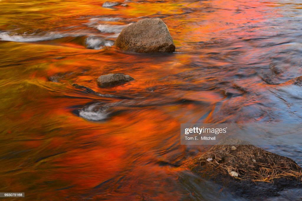 Swift River Reflection Fall Colors : Stock Photo