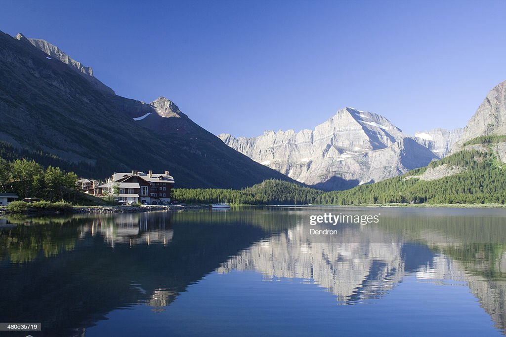 Swiftcurrent Lake : Stockfoto