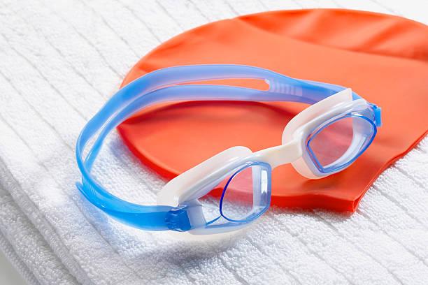 Swim goggles and cap