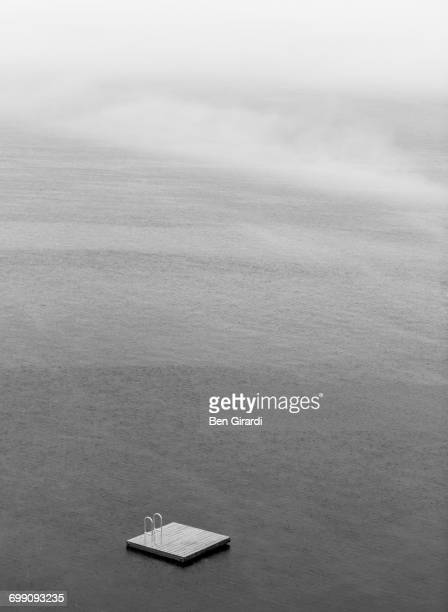 swim raft on skaneateles lake - skaneateles lake stock pictures, royalty-free photos & images