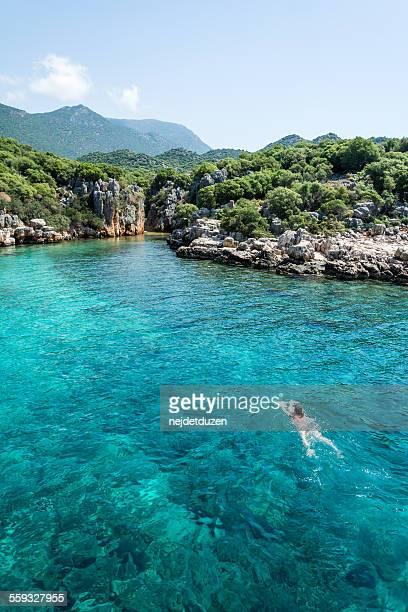Swiming in Kas, Turkey