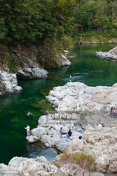 Swiming in one of the various rivers running through the Tasman Region