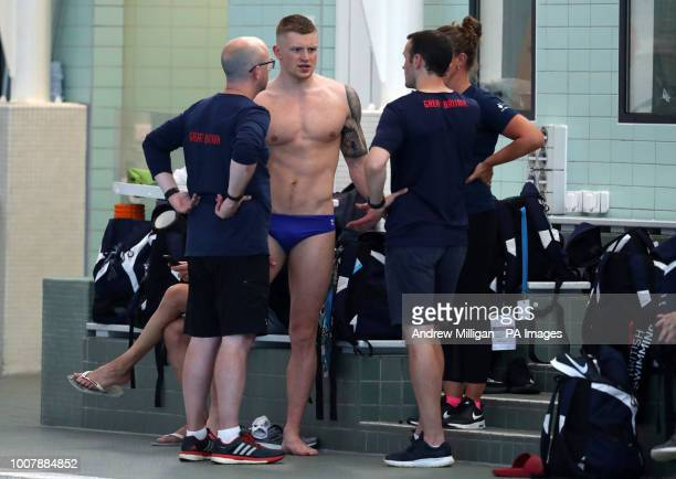Swimmer Adam Peaty during the media day at Stirling University
