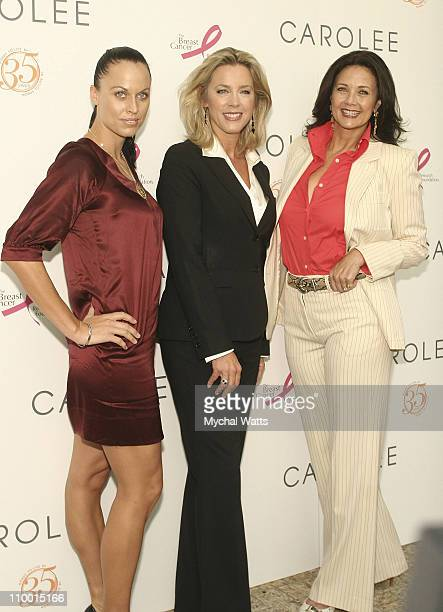 Swimmer Amanda Beard Deborah Norville and Lynda Carter at the Carolee 35th Anniversary Celebration September 19 2007 at Le Cirque in New York City