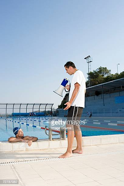 Schwimmer und coach