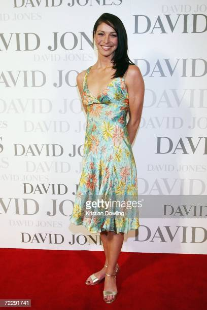 Swimmer and TV personality Giaan Rooney arrives at the launch of the new ground floor at David Jones Melbourne October 28 2006 in Melbourne Australia