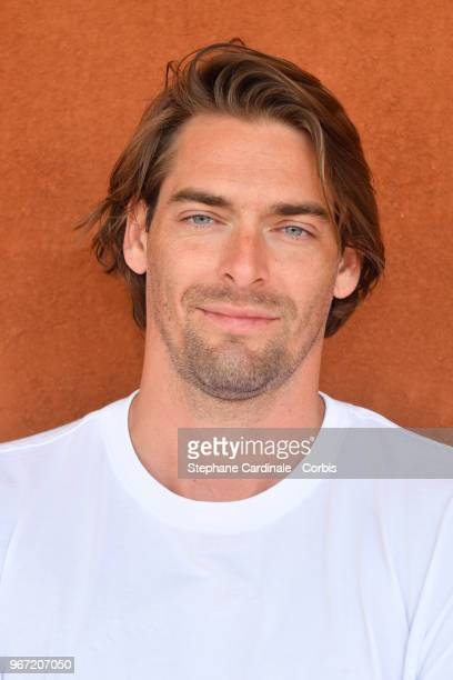 Swimmer Camille Lacourt attends the 2018 French Open Day Nine at Roland Garros on June 4 2018 in Paris France