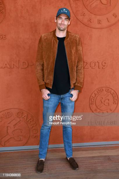 Swimmer Camille Lacourt attends the 2019 French Tennis Open Day Twelve at Roland Garros on June 06 2019 in Paris France