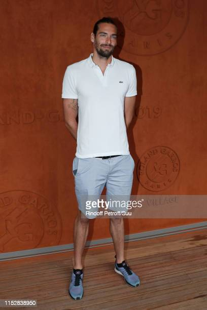 Swimmer Camille Lacourt attends the 2019 French Tennis Open Day Six at Roland Garros on May 31 2019 in Paris France