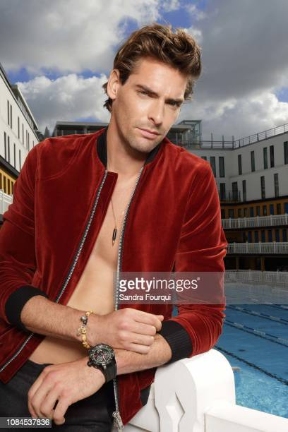 Swimmer Camille Lacourt is photographed for Blush on October 2017 in Paris France