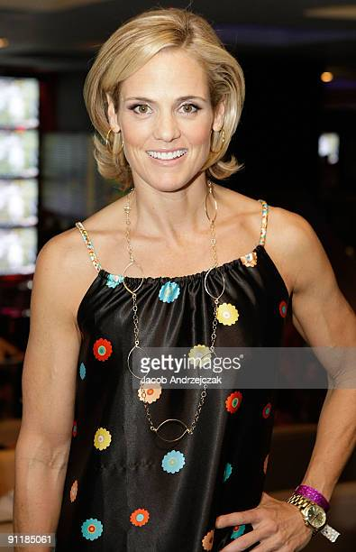 Swimmer Dara Torres arrives at Lagasse's Stadium VIP grand opening at The Palazzo on September 25 2009 in Las Vegas Nevada