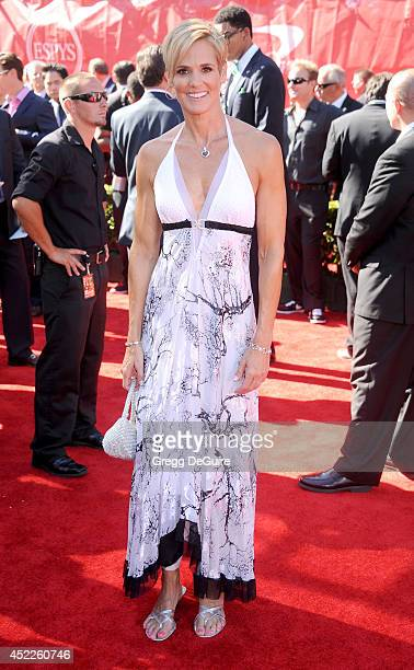 Swimmer Dara Torres arrives at the 2014 ESPY Awards at Nokia Theatre LA Live on July 16 2014 in Los Angeles California