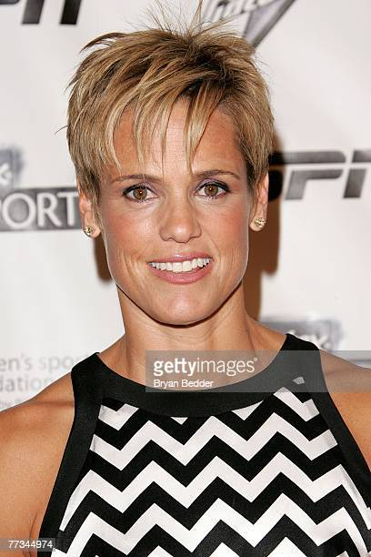 Swimmer Dara Torres arrives on the Playtex Sport Pink Carpet at the Women's Sports Foundation's 28th Annual Salute to Women in Sports at the...