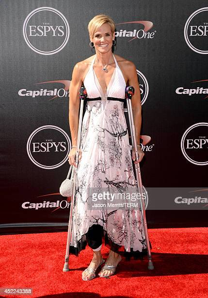 Swimmer Dara Torres attends The 2014 ESPYS at Nokia Theatre LA Live on July 16 2014 in Los Angeles California