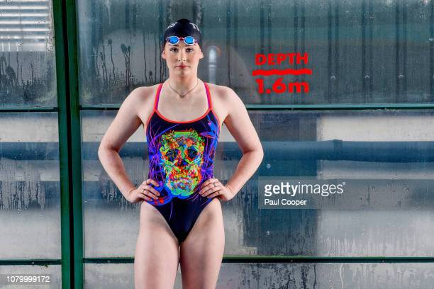 Swimmer Freya Anderson is photographed for the Telegraph on December 11 2018 in Ellesmere England